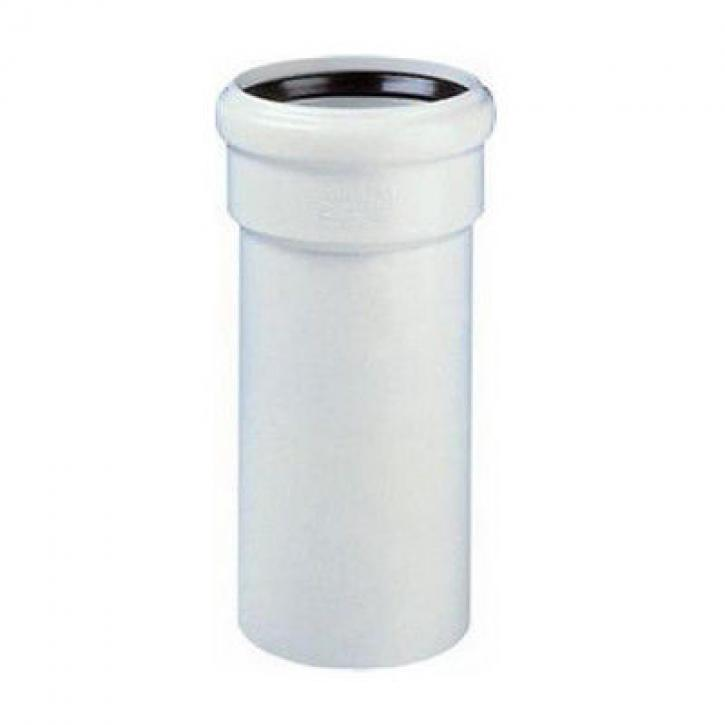 Wavin AS-EM Abflussrohr mit Muffe Abwasser Schallschutz Rohr Passlänge GRAU