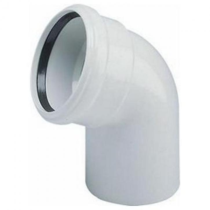 Wavin AS-B Abflussrohr Bogen Bögen mit Muffe Abwasser Schallschutz Rohr GRAU