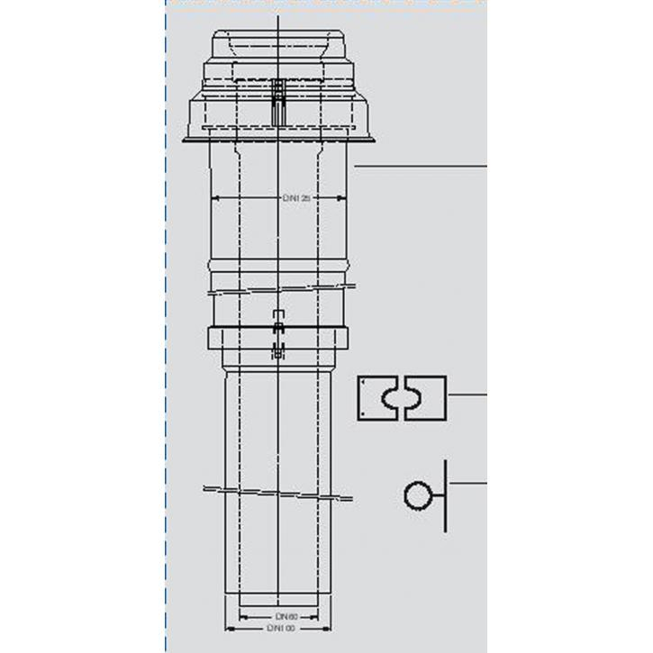 Buderus Abgassystem DO 80/125 Grundbausatz PP über Dach raumluftunabhängig RLU