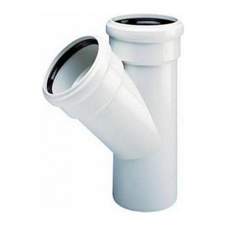 Wavin AS Abflussrohr Abzweig Abzweige mit Muffe Abwasser Schallschutz Rohr GRAU