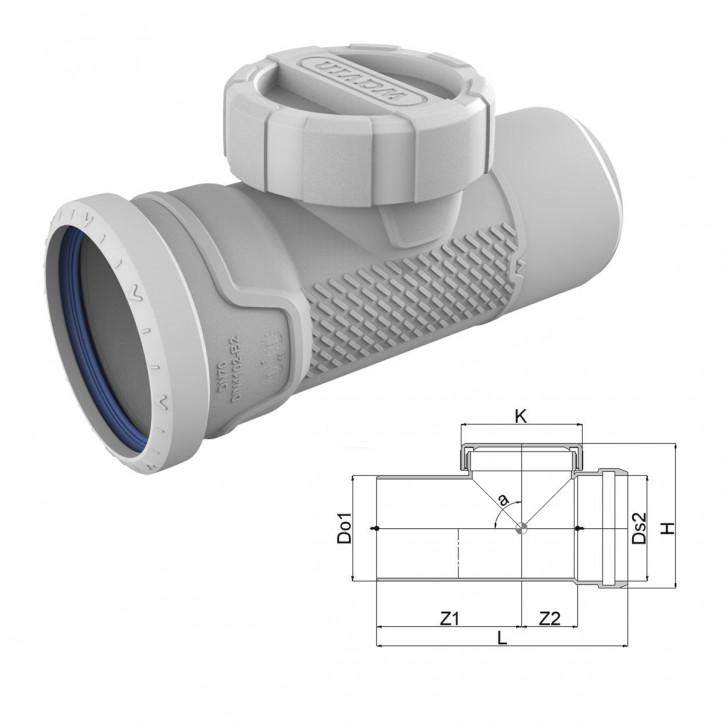 Wavin AS+ / Wavin AS Plus Reinigungsrohr RU mit Premium Schallschutz Abflussrohr