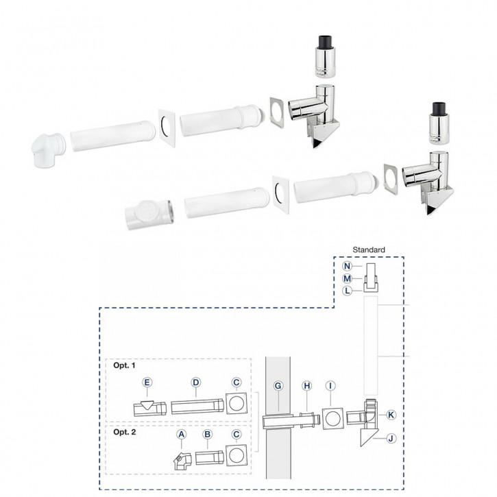 Buderus Grundbausatz GAF-K Aussenwand Edelstahl DN80/125 Abgassystem DN 80/125