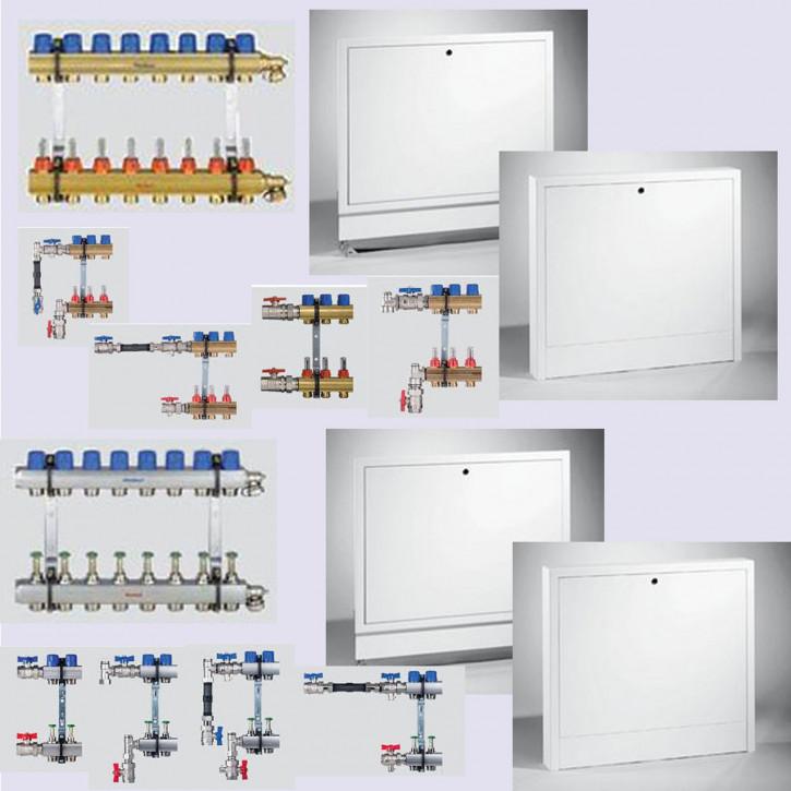EMPUR Heizkreisverteiler HKV-D im Komplett-Set mit Verteilerschrank & Anschluss