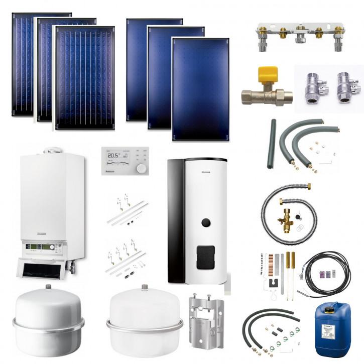 Buderus Logasys SL104 Gas Brennwert Therme GB172 Speicher RC310 Solarkollektoren