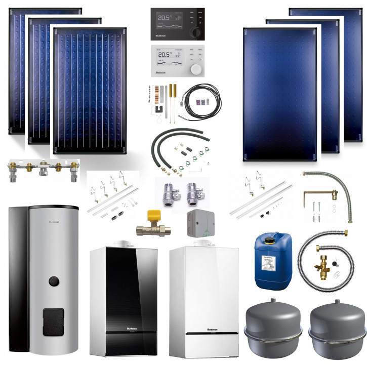 Buderus Solarpaket SL116 Gas Brennwert GB182i SMS290 RC310 SKN4.0 SKT1.0
