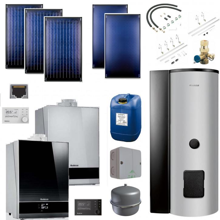 Buderus Solarpaket SL120 Gas Brennwert GB192i SMS290 RC310 SKN4.0 SKT1.0