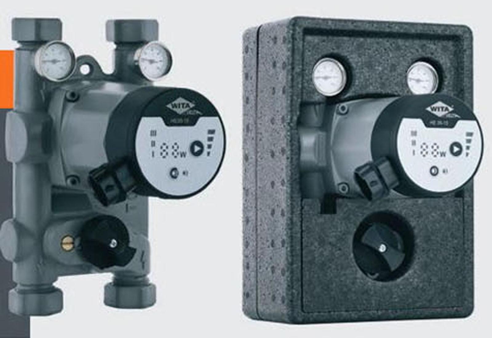 Wita-Bloc T08 Pumpengruppe DN20 Hocheffizienz Pumpe + Mischer 90mm Achsabstand
