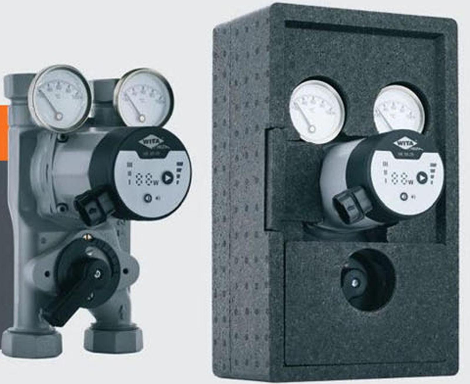 Wita-Bloc T20 Pumpengruppe DN25 Hocheffizienz Pumpe + Mischer 90mm Achsabstand