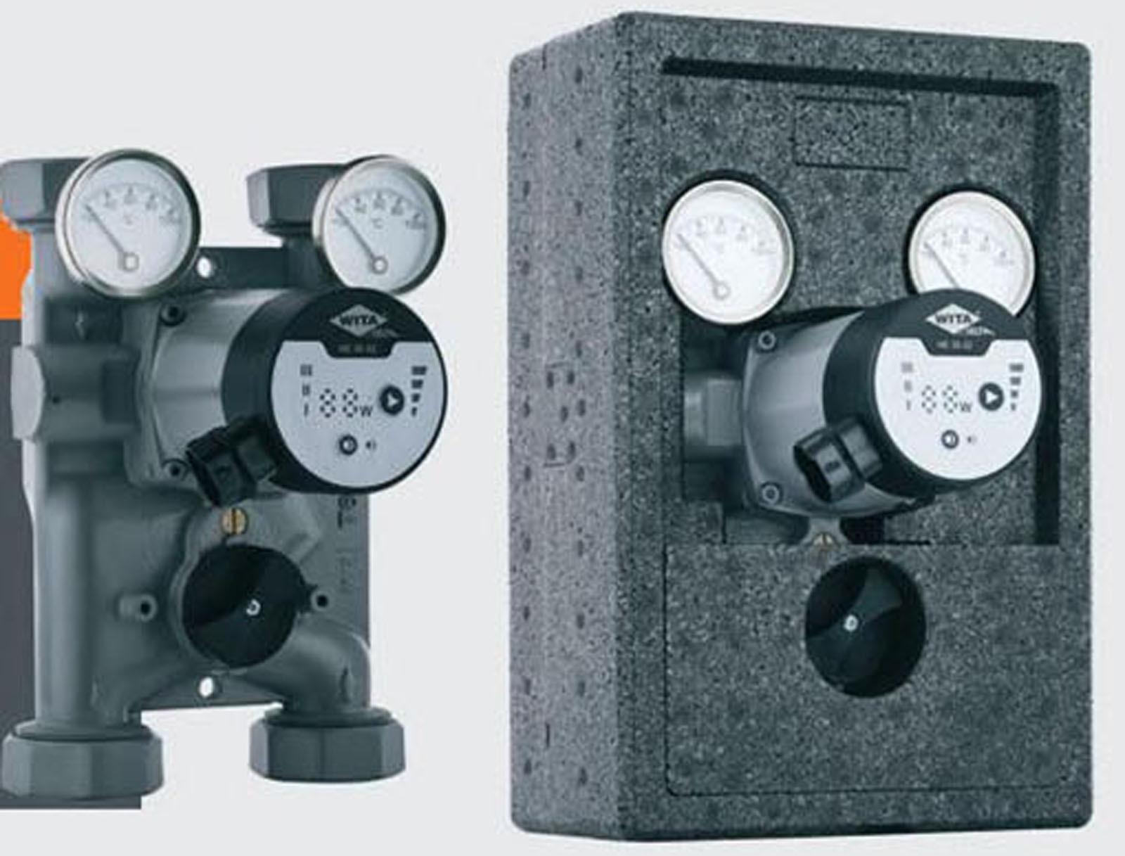 Wita-Bloc T60 Pumpengruppe DN32 Hocheffizienz Pumpe + Mischer 120mm Achsabst.