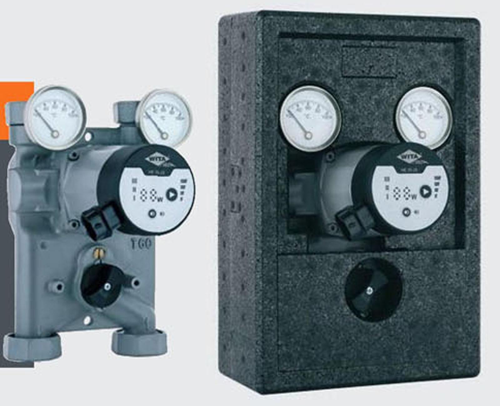 Wita-Bloc T60 Pumpengruppe DN25 Hocheffizienz Pumpe + Mischer 120mm Achsabst.