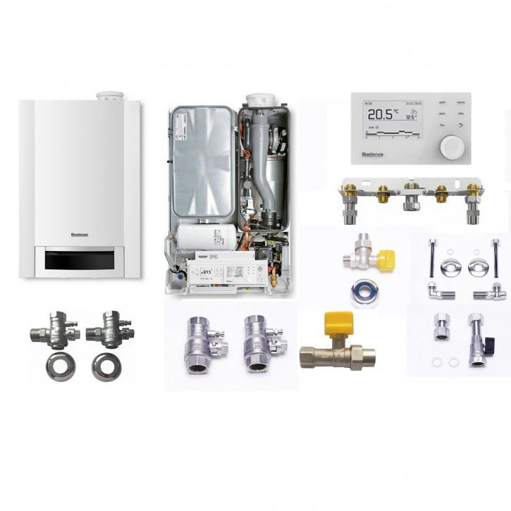 Buderus Logaplus Paket W26 Gas Brennwert Therme GB172 T50 Speicher RC310 - 24 kW