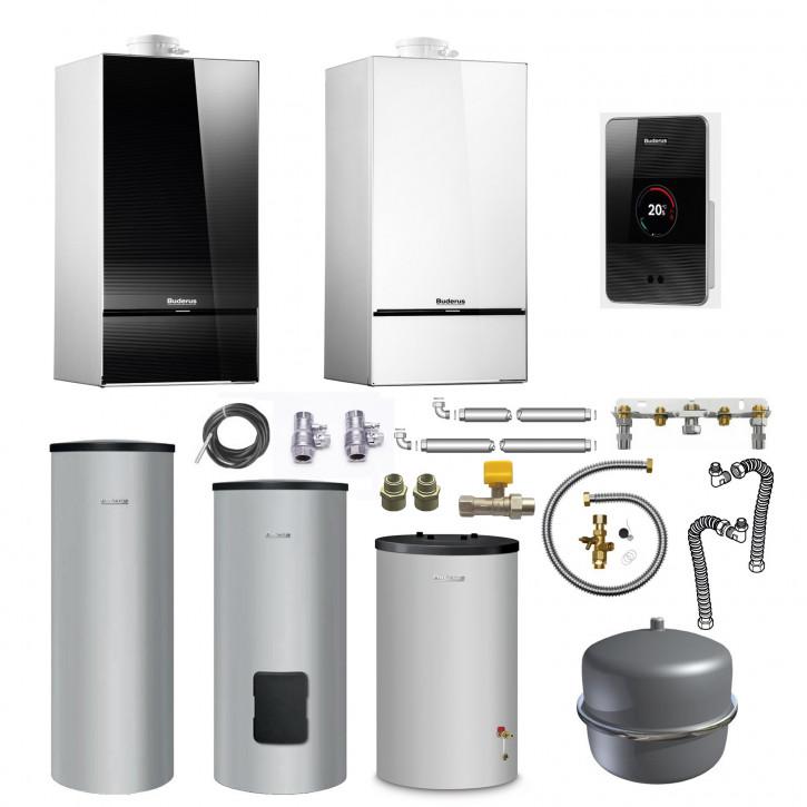Buderus Gas Brennwert Heizung GB182i TC100 WW Speicher usw / Logaplus Paket W44