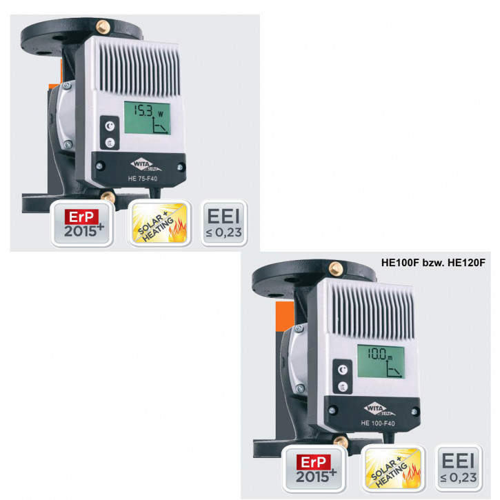 WITA Delta HE75F HE100F HE120F Hocheffizienzpumpe Solarpumpe 7,5-12m BL 220 240