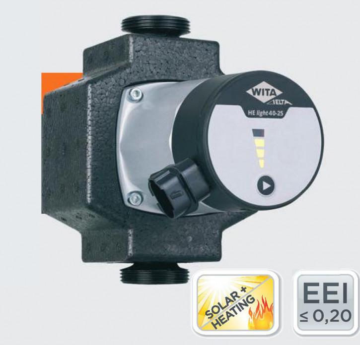 Wita Hocheffizienzpumpe HE Light 40 60 LED Heizungspumpe Solarpumpe 4-6m 130 180
