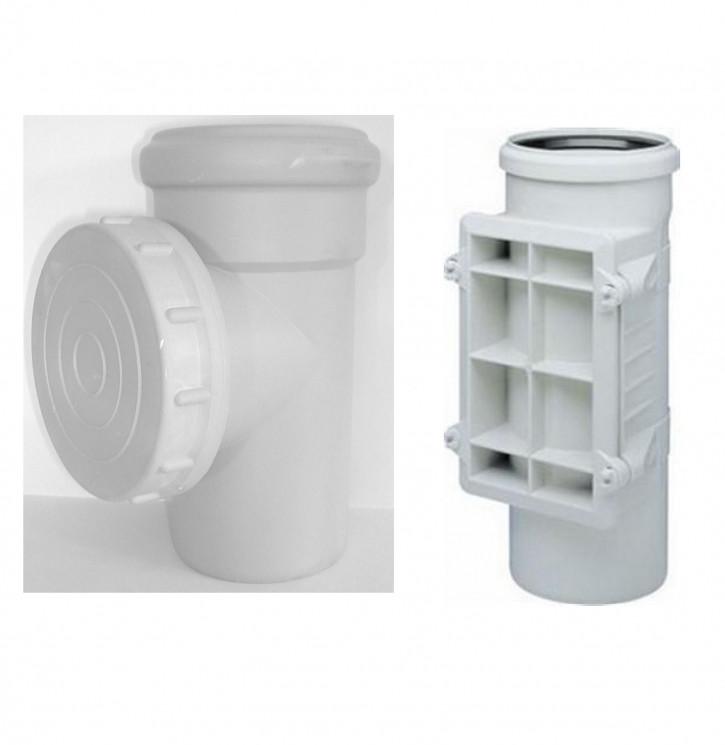 Wavin AS Abflussrohr Reinigungsrohr Muffen Abwasser Schallschutz Rohr GRAU