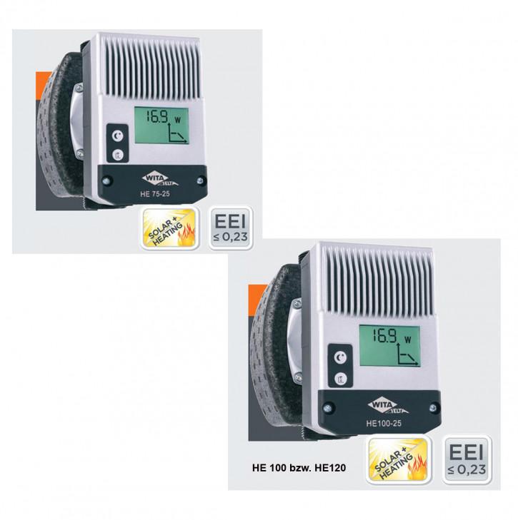 WITA Delta HE75 HE100 HE120 Hocheffizienzpumpe Solarpumpe Heizungspumpe 7,5-12m