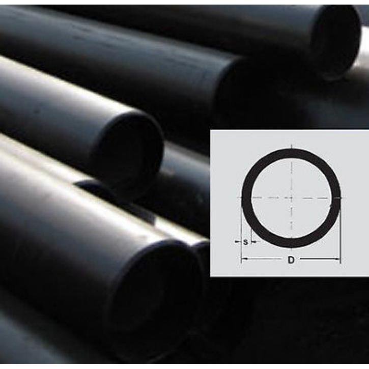 Stahlrohr geschweißt schwarz in 6m Stangen EN10217 normalwandig glatte Enden